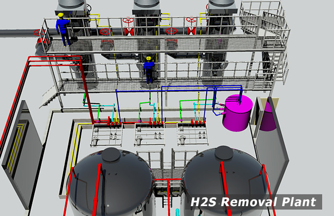 H2S Removal Plant, Hydros, Environmental Diagnostics, Bourne, MA